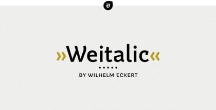 Weitalic font