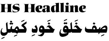 Headline font