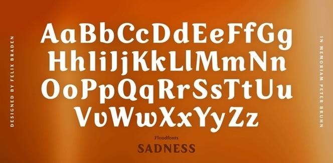 Sadness font