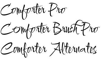 Comforter font