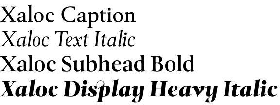 Xaloc font