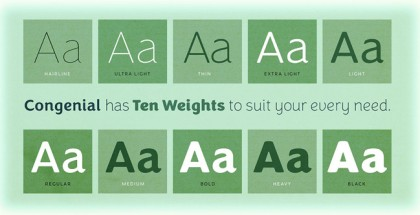 Congenial font