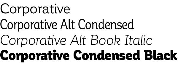 Corporative font