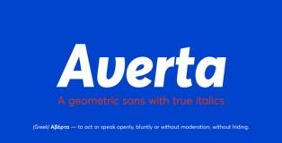 Averta typeface