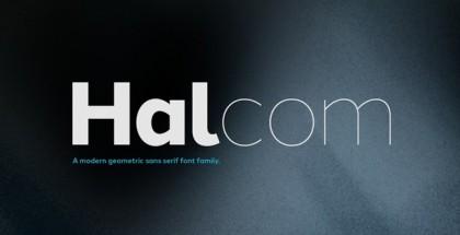 Halcom typeface
