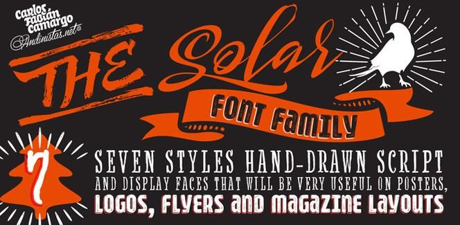 Solar typeface