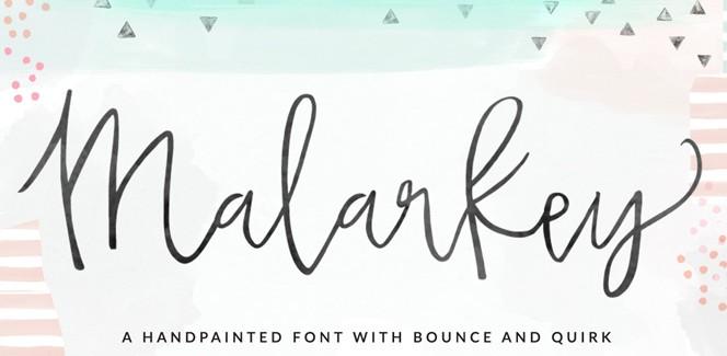 Malarkey typeface