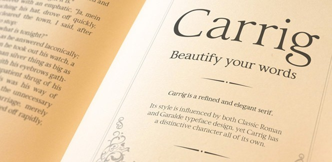Carrig typeface