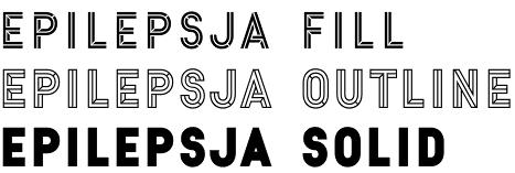 Epilepsja typeface