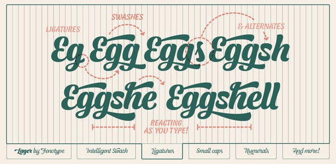 Lager typeface