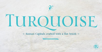 Turquoise font