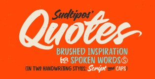 Quotes typeface