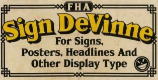 FHA Sign DeVinne