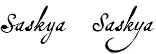 Saskya font