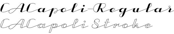 CA Capoli font