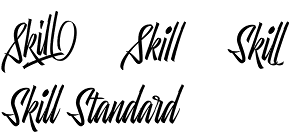 Skill font