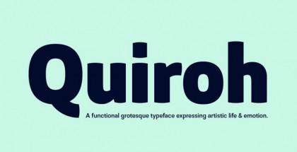 Quiroh font
