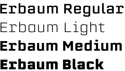 Erbaum font