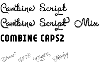 Combine typeface