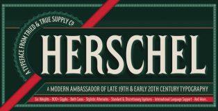 Herschel typeface