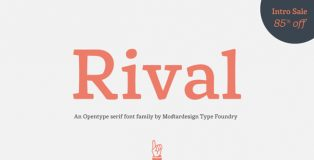 Rival typeface