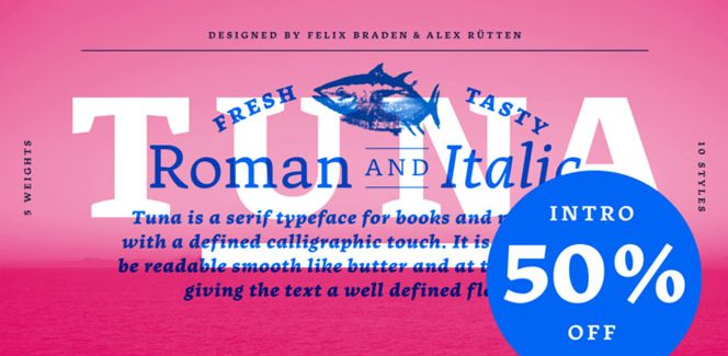 Tuna font
