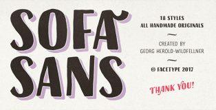 Sofa Sans typeface