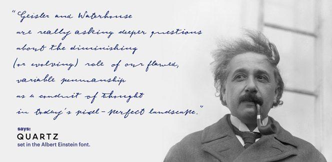 Einstein typeface