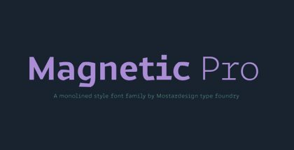 Magnetic Pro typeface