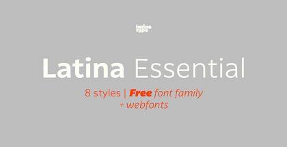 Essential free typeface